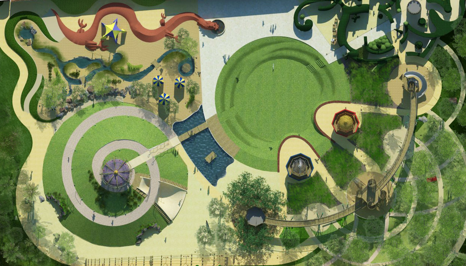 Plan view of the Magic Garden