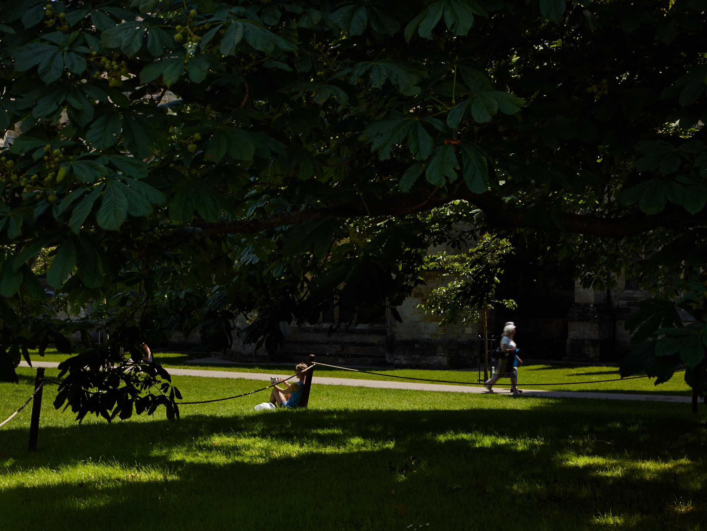 Summertime on 'the beach' aka Cathedral Green