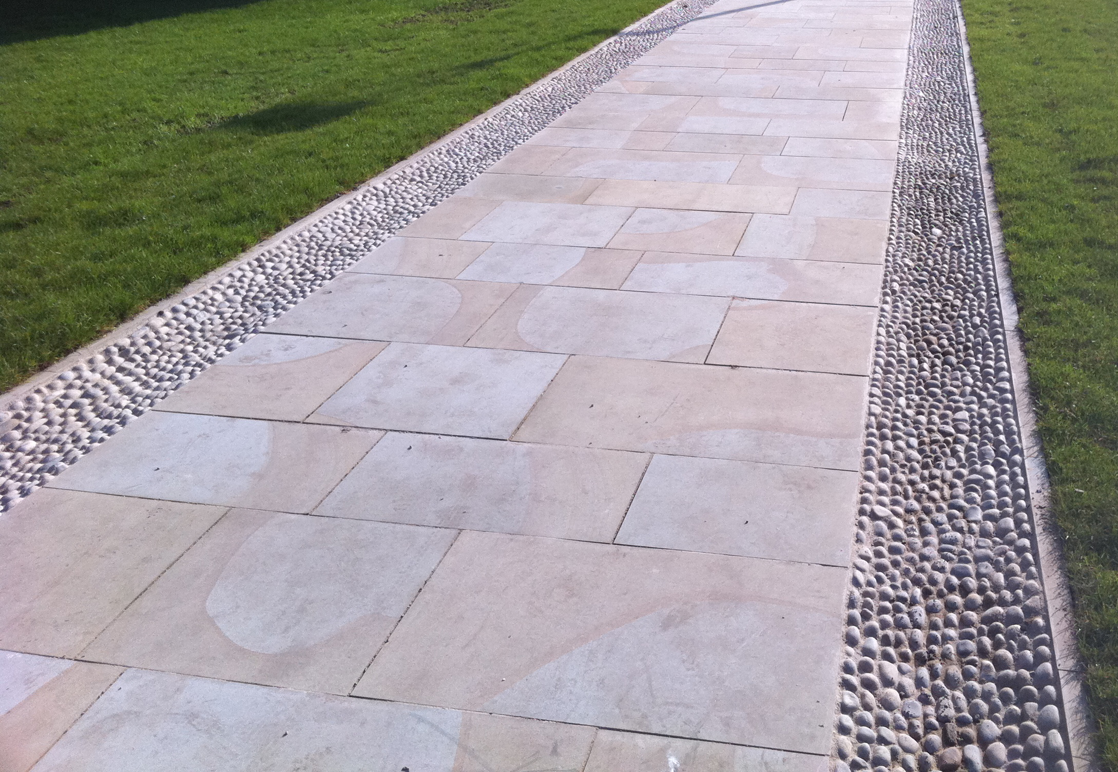 Path detail, Exeter Cathedral Green