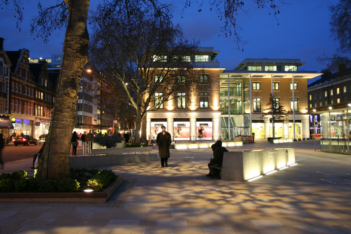 Duke of York Square at night