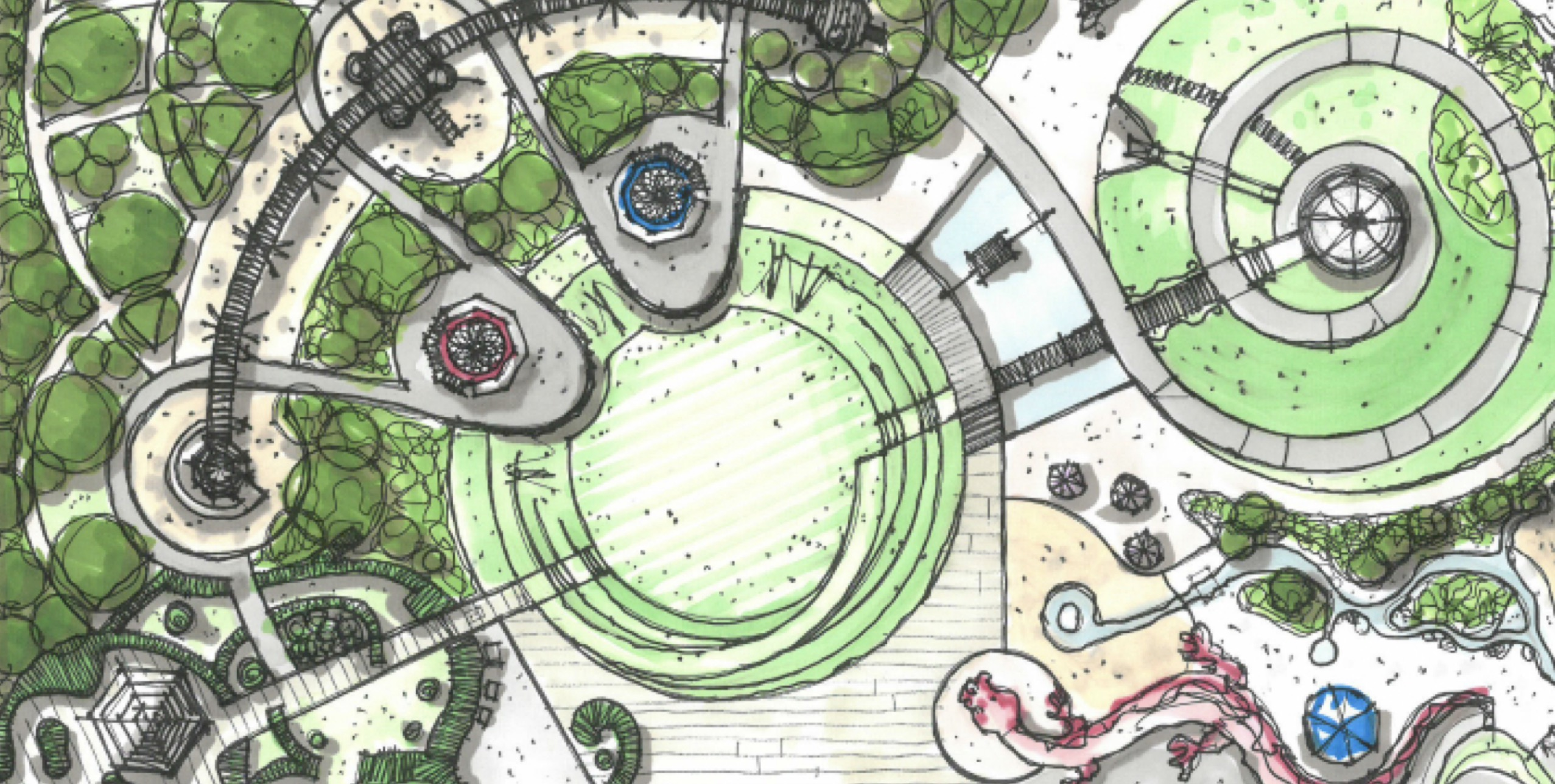 Early sketch of the Magic Garden (detail)