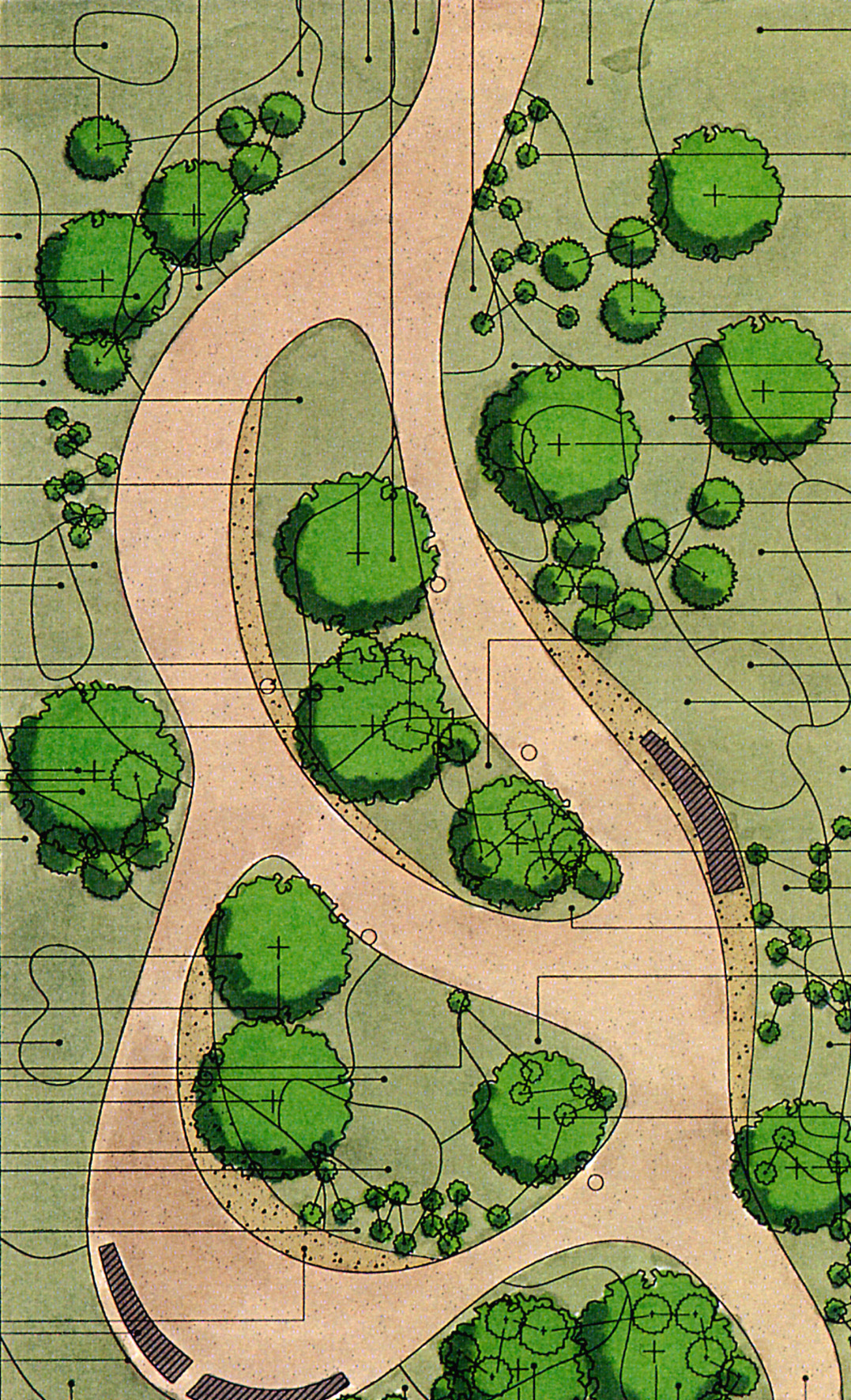Early plan for part of the Hinxton campus