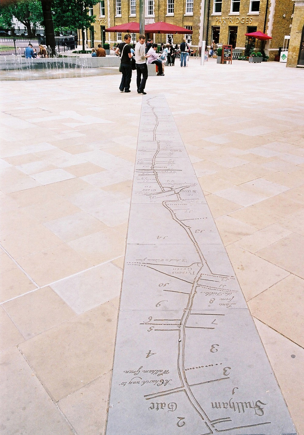 Map incorporated into the paving