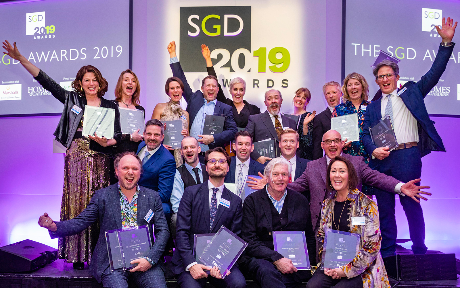 The happy SGD awards winners
